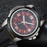 YAZOLE 383 Leather Strap Luminous Casual Male Quart Watch