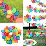 8pcs Rainbow Flower Windmill Garden Wind Spinner Festival Outdoor campeggio Decor