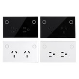 MAKEGOOD AU/US Plug WIFI Smart Socket 10A 110-240V Phone Timing Current Monitoring Voice Control Support Amazon Alexa/Google Assistant