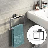 Chrom Nowoczesna łazienka Akcesoria ścienne Uchwyt kwadratowy wieszak na ręczniki