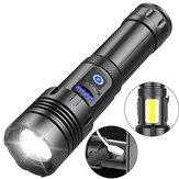 XANES® XHP70 LED + COB Масштабируемый фонарик Power Bank для мобильного телефона Суперяркий 7 режимов USB аккумуляторный светодиодный фонарик с боковым ф