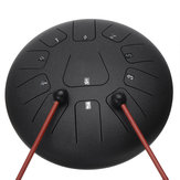 12 Inch 11 Noten D Tone Steel Tong Percussie Drum Handpan Instrument met Drum Mallets en tas