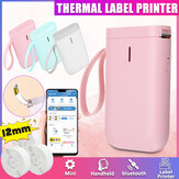 Jingchen D11 Handheld Portable Wireless bluetooth Label Thermal Printer Self-Adhesive Tag No Ink Classification Label Printers for Home Office Supermarkets Jewelry Clothing Shops