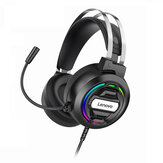 Lenovo H401 Gaming Headset Over-Ear 3,5 mm USB 7.1 Surround Sound Deep Bass Stereo Spielkopfhörer mit Mikrofon für PC Laptop Gamer