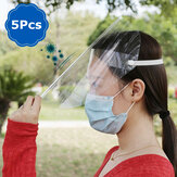 5/10/20Pcs Face Shield Protect Eyes and Face Anti-Fog Dustproof Mask with Protective Clear Film Anti-saliva Windproof Hat Full Face Protective Cap