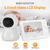 SHIWOJIA Wireless Digital Video Baby Monitor 1080P Night Vision Two Way Audio USB Charging IP Camera