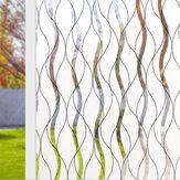 Película de ventana esmerilada Etiqueta de película de vidrio de PVC a prueba de calor Privacidad Decoración del hogar