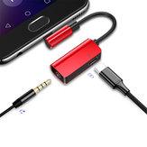 Baseus L45 Type-c naar Type-c opladen + 3,5 mm audiomuziekadapterconverter voor Xiaomi Huawei niet-origineel