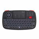 RII RT726 Bluetooth 2.4G Wireless ratón Mini Teclado Panel táctil Airmouse con rueda de desplazamiento