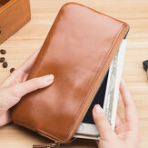 Men Fashion Long Zipper Wallet Clutches Bag Phone Bag Business Bag