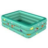Inflatable Swimming Pool PVC Family Bathing Tub Paddling Pool Summer Outdoor Garden