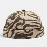 Collrown Khaki Caveira Cap Cotton Diverse Patterns Cap ajustável Cap Brimless Hats