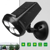Impermeabile IP65 4 LED solare Light Bright Motion Sensor Landscape Wall lampada per Garden Outdoor