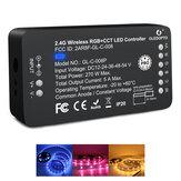 GLEDOPTO 2.4G vezeték nélküli RGB + CCT LED-vezérlő Pro a LED szalagfény APP vezérléséhez, kompatibilis a ZIGBEE 3.0 Alexa