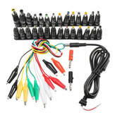37 Pcs Universal AC DC Jack Charger Konektor Plug AC DC Power Adapter untuk Laptop Notebook dengan Kabel