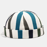 Collrown Stripe Baret Street Trends Melon Cap Vintage Innocent Metal Standard Sailor Brimless Hats