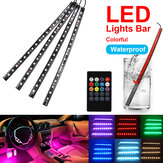 18 LED Colorful Car Interior Floor RGB Strip Light Bar Neon Lamp Remote Control