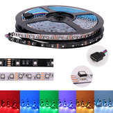 5M DC12V 8MM SMD3535 White Black PCB Non-waterproof RGB 300LED Strip Light for Indoor Home Decoration