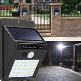 2pcs énergie solaire 30 LED PIR lumière de mur capteur de mouvement étanche chemin extérieur jardin lampe de sécurité