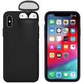 2-IN-1 with Airpods Case Space PC+TPU Shockproof Protective Case Back Cover for iPhone X / XS / XR / XS Max / 6S / 6S Plus / 7 / 8 / 7 Plus / 8 Plus