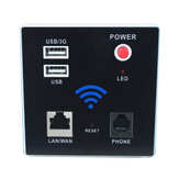 300Mbps Wifi Router Ενσωματωμένο ασύρματο AP Repeater 2.4G Portable USB RJ11 Module Router USB Charging Socket
