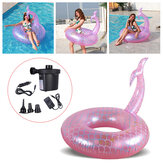Swimming Ring Fish Tail Life Buoy Water Rings Adult Water Toy-Mermaid for Outdoor Activity