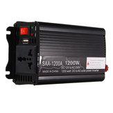 solare Inverter di potenza 1200 W di picco da 12V DC a 220 V CA Convertitore sinusoidale modificato