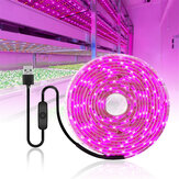 0.5 / 1/2/3/4 / 5M USB LED Grow Strip Light Tahan Air 2835SMD Hidroponik Spektrum Penuh Indoor Tanaman Bunga Lampu