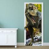 88X200cm pag imitative porta 3d parede adesivo ardente dragon tyrannosaurus dinossauro parede decoração presente