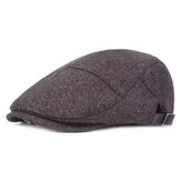 Mens Womens Casual Winter Warm Thicken Adjustable Beret Hat