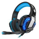 KOTION EACH G200 Oyun Kulaklığı 50mm Sürücü Stereo Ses Hattı Kontrolü Gürültü Azaltma Mikrofon PS3/4 Xbox PC için Ayarlanabilir Kafa Işın