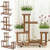 Stojak na kwiaty z drewna wielopoziomowego Stojak na rośliny Półki drewniane Półka ekspozycyjna Bonsai Indoor