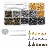 480Pcs Double Cap Rivets Tool Kit Metal Studs Hat Bag Leather Clothes Craft