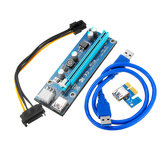 PCI Express PCI-E 1X to 16X Riser Card 6Pin PCIE USB3.0 SATA Expansion Cable for Miner Mining BTC Dedicated Adapter