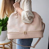 14 inch Large Capacity Macbook Storage Pack Travel Women Shoulder Tote Bag with Removable Drawstring Pouch