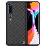NILLKIN for Xiaomi Mi 10 Pro 5G Case Anti-fingerprint Anti-slip Nylon Synthetic Fiber Textured Shockproof Protective Case Non-original