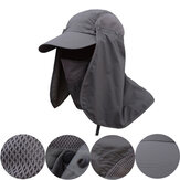 Mens Quick Dry Neck Cover Sun Fishing Hat UV Protection Cap