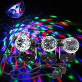 Mini 3W RGB Sound aktiviert Bühne Licht rotierenden Projektor für Weihnachten Hochzeitsparty