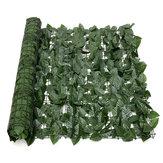 Erweiterung 1 * 3M künstliche Lvy Leaf Wall Zaun Green Garden Screen Hedge Dekorationen