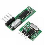 WL102 433 MHz Controle Remoto Módulo Transmissor Sem Fio + RX470 433 Mhz RF Controle Remoto Módulo Receptor Sem Fio
