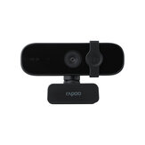 Rapoo C280 Webcam USB HD 2K Camera Built-in Omnidirectional Dual Noise Reduction Microphone 85° Wide-angle Viewing Angle 360° Horizontal Rotation