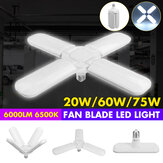 Industrial Lamp Super Bright Industrial Lighting 75W E27 Led Fan Garage Light 6000LM 110-265V 2835 Led for High Bay workshop
