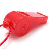 20 PCS Plastic Whistle With Hang Rope Emergency Survival Sports Many Colors