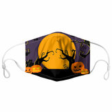 Unisex 7PCS PM2.5 Filter Halloween Style Printing Non-disposable Breathable Masks