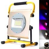 100W recargable portátil 100 LED RGB RGB Flood spot luz de trabajo cámping Lámpara