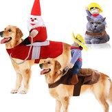 Animal de estimação engraçado Cachorro fantasia de filhote de cachorro de gato Halloween Xmas Cowboy vestido bonito casaco para Cachorro roupas de cachorro gato