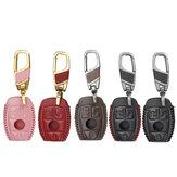 Protecteur de clé à distance avec porte-clés pour Benz W203 W210 W211 W124 W202 3 boutons