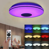 Lâmpada de teto Bluetooth WIFI LED RGB Music Speeker regulável APP remoto