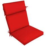 Almofada reclinável com encosto alto Almofada de uma peça de cor sólida protetor solar à prova d'água Almofada de cadeira para móveis