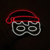 Рождество EL Glowing Маска День рождения Праздничная танцевальная вечеринка LED Мигающий холодный свет Маска Реквизит для вечеринки